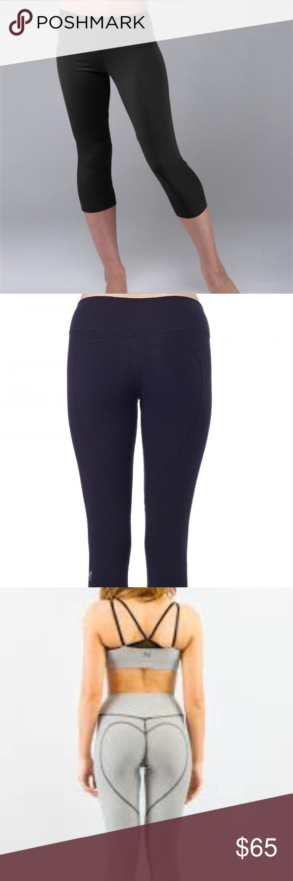 7ff7807f0e81f NWT Nina B Roze Heart Butt Capri in Black NWT These luxury capri yoga pants  have