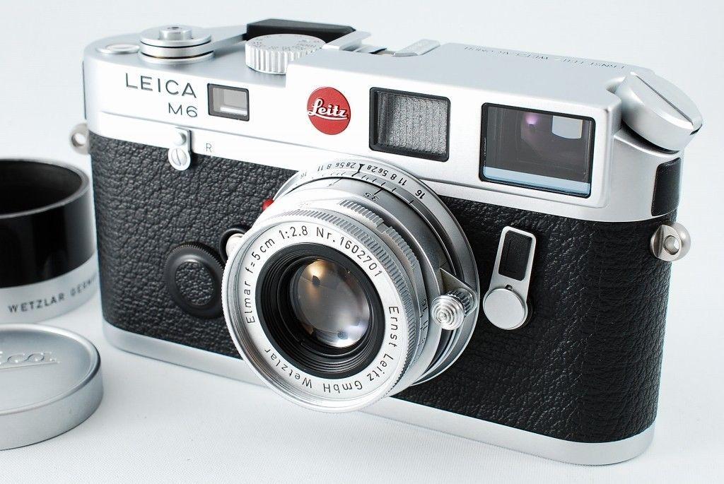 NR Mint Leica M6 35mm Rangefinder Camera Silver w Elmar 50mm