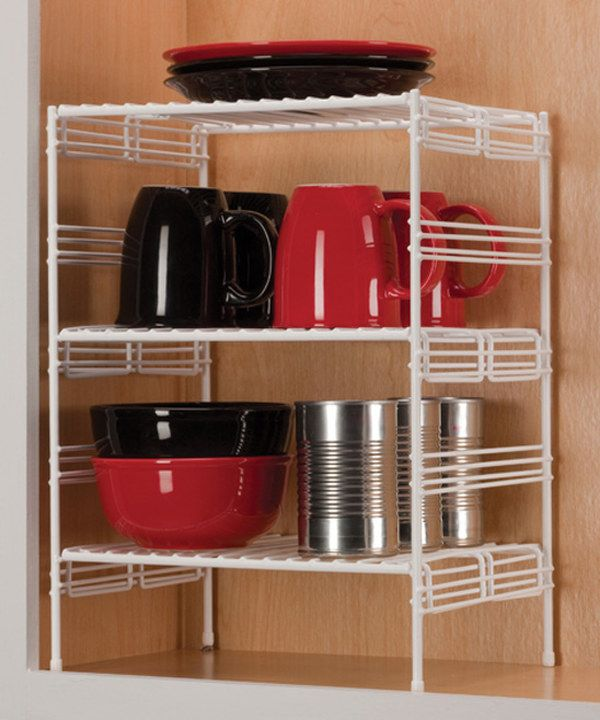 Look At This Medium Adjustable Upper Cabinet Helper Shelf On Zulily Today Upper Cabinets Fridge Storage Shelves