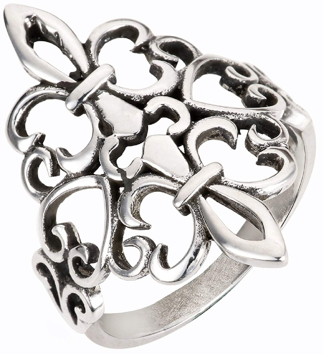 CloseoutWarehouse Sterling Silver Angel Wings Ring