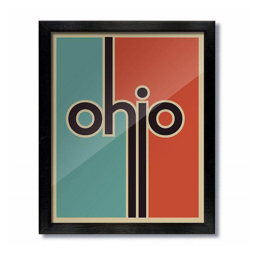 Ohio vintage retro poster