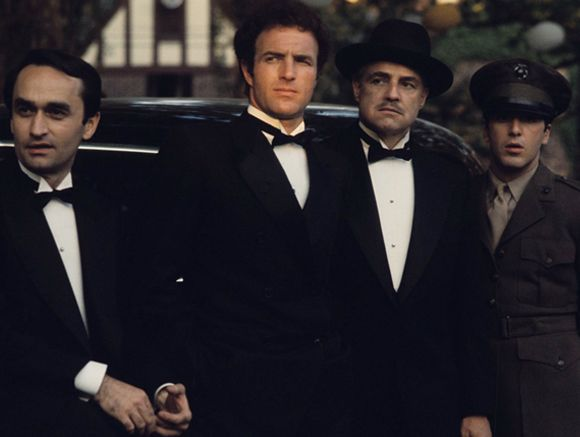 The Godfather Alfredo,Sonny,Dom Corleone and Michael  http://www.corbisimages.com/content/celebrity/