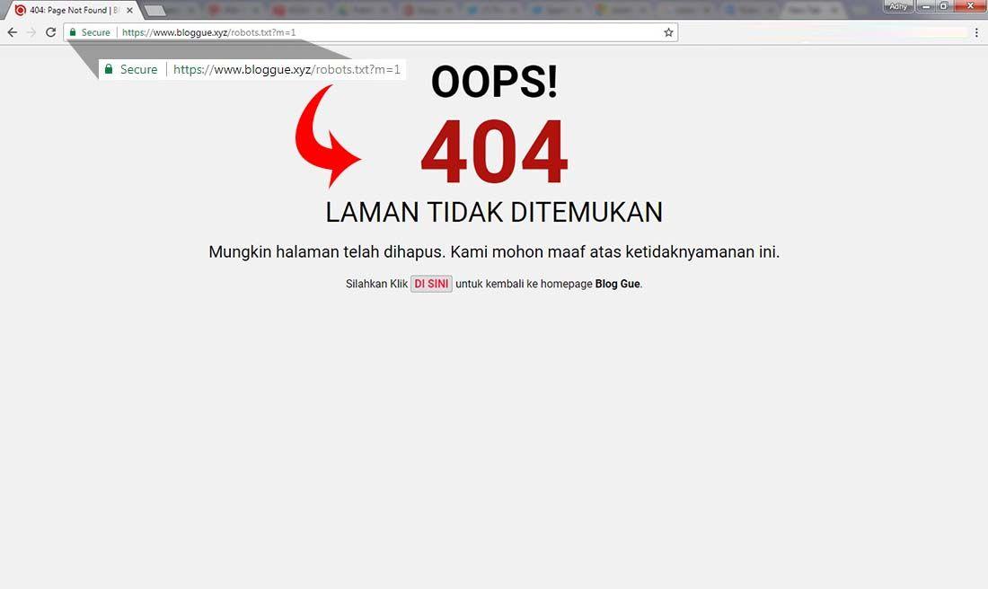 Robots Txt Blogger Error 404 Di Url Mobile M 1 Tidak Jadi Masalah Blogger Membaca