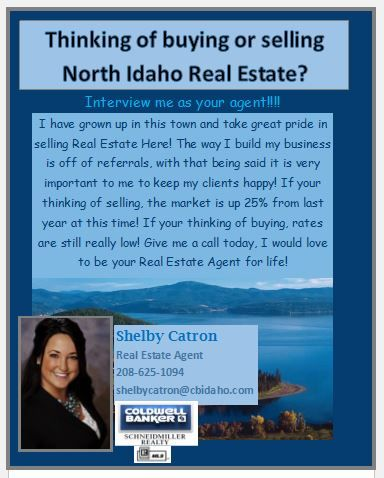 Shelby Catron North Idaho Real Estate Agent 208 625 1094 Selling Real Estate Real Estate Agent Real Estate