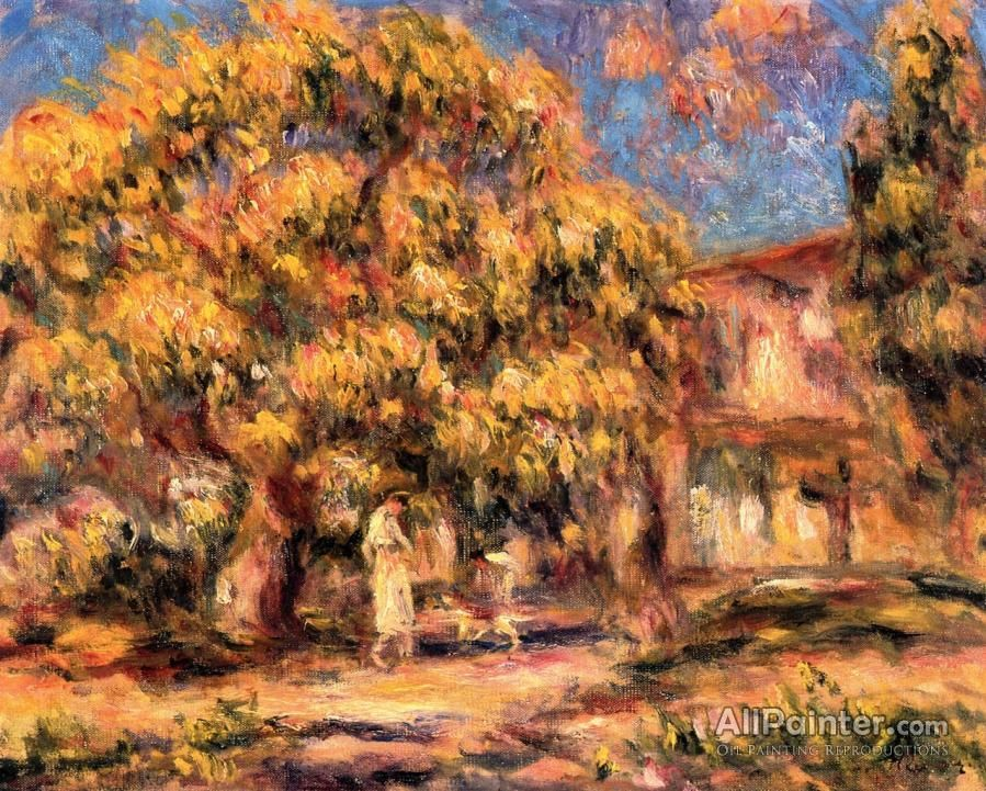 Pierre Auguste Renoir Landscape: Lime Tree And Farm oil painting reproductions for sale