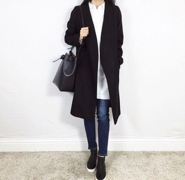 MINIMAL + CLASSIC: Black Merino Coat THISISNON
