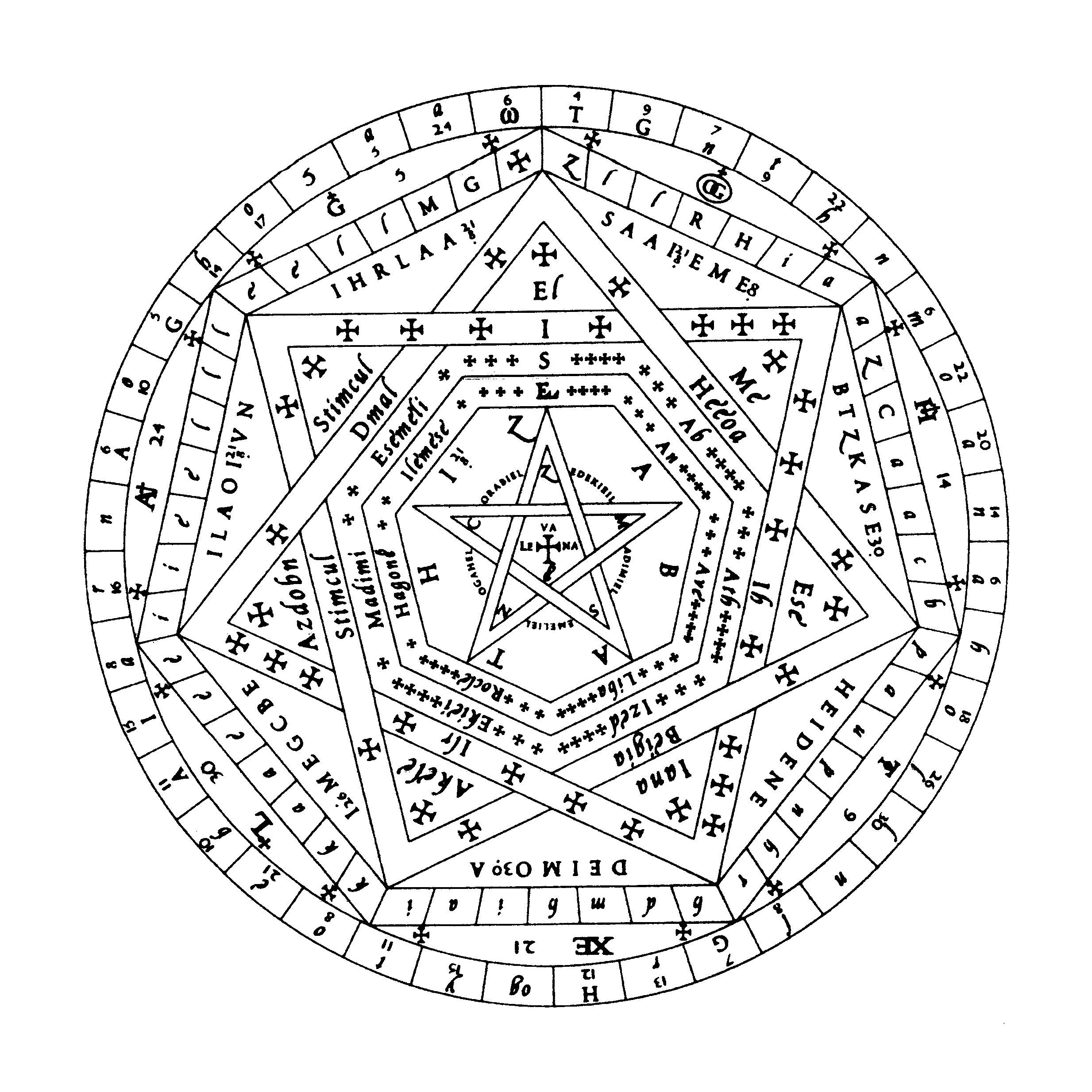 The Sigil of Ameth is a very old sigil, part of the Enochian