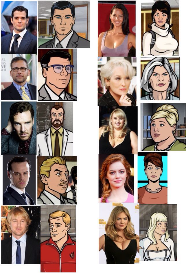 If Archer Was Made Into A Live Action Movie Here S The Cast Archer Cartoon Archer Characters Movies