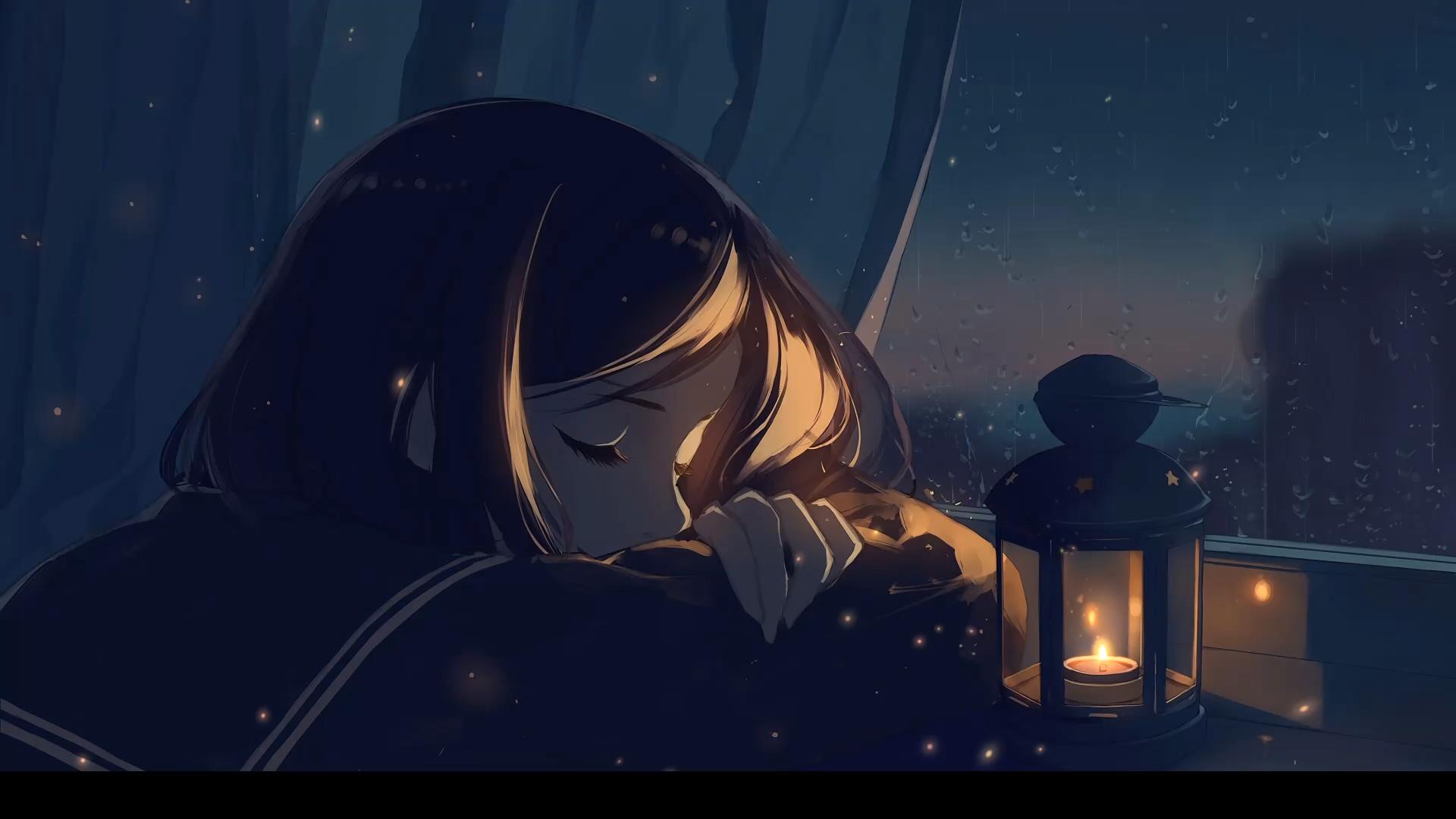 Falling Asleep Anime Wallpaper Video Anime Scenery Anime Art Beautiful Lonely Art