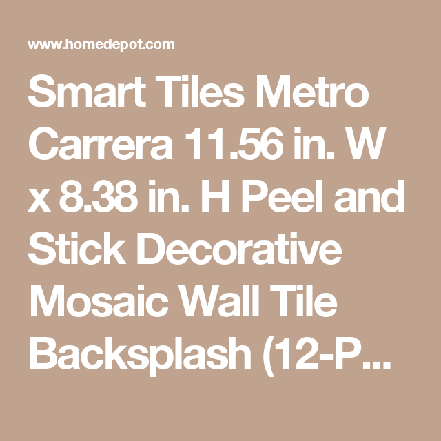 h peel and stick decorative mosaic wall tile backsplash 12 pack multi - Tijdelijke Backsplash