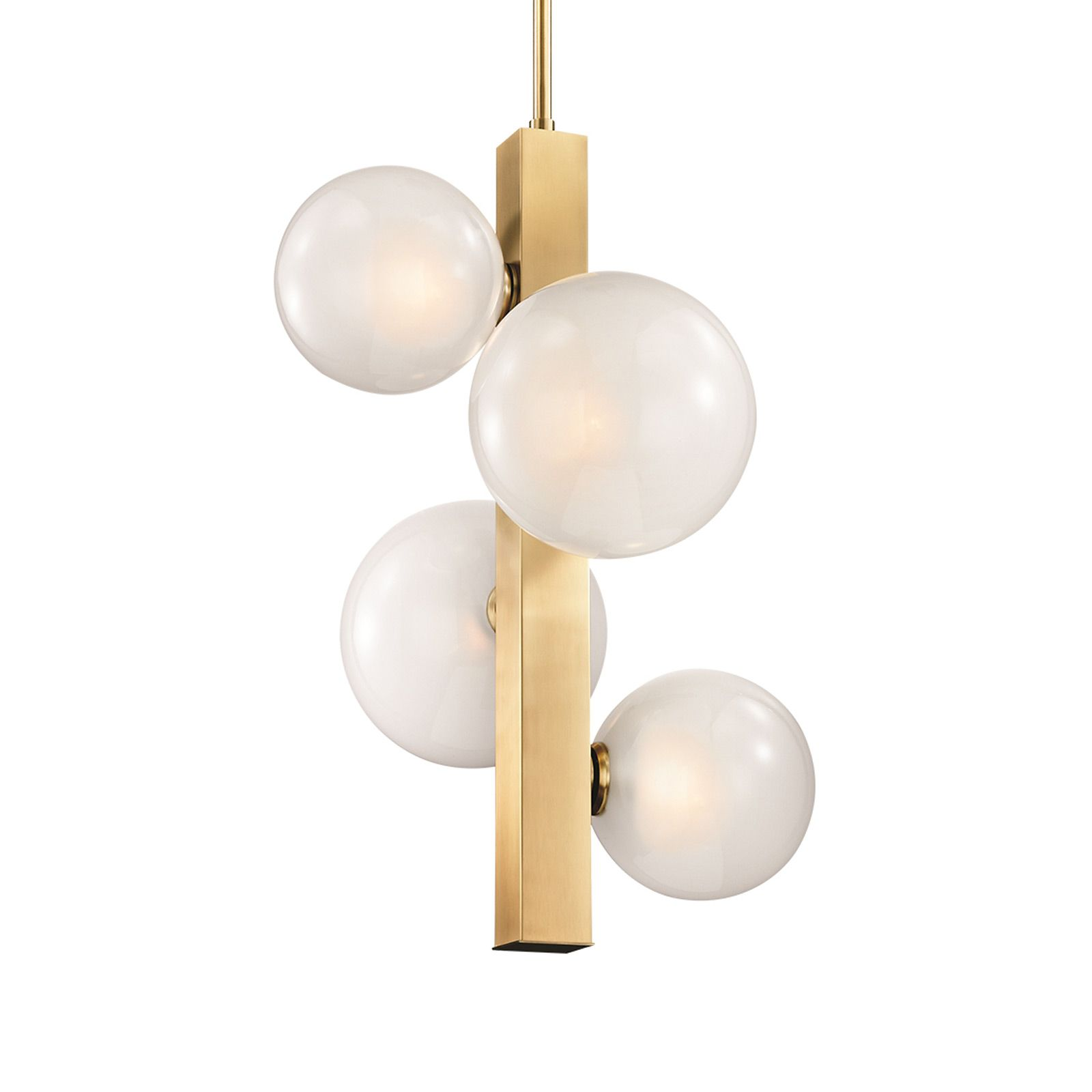 Offering a touch of mid-century charm, the Incline Chandelier in ...