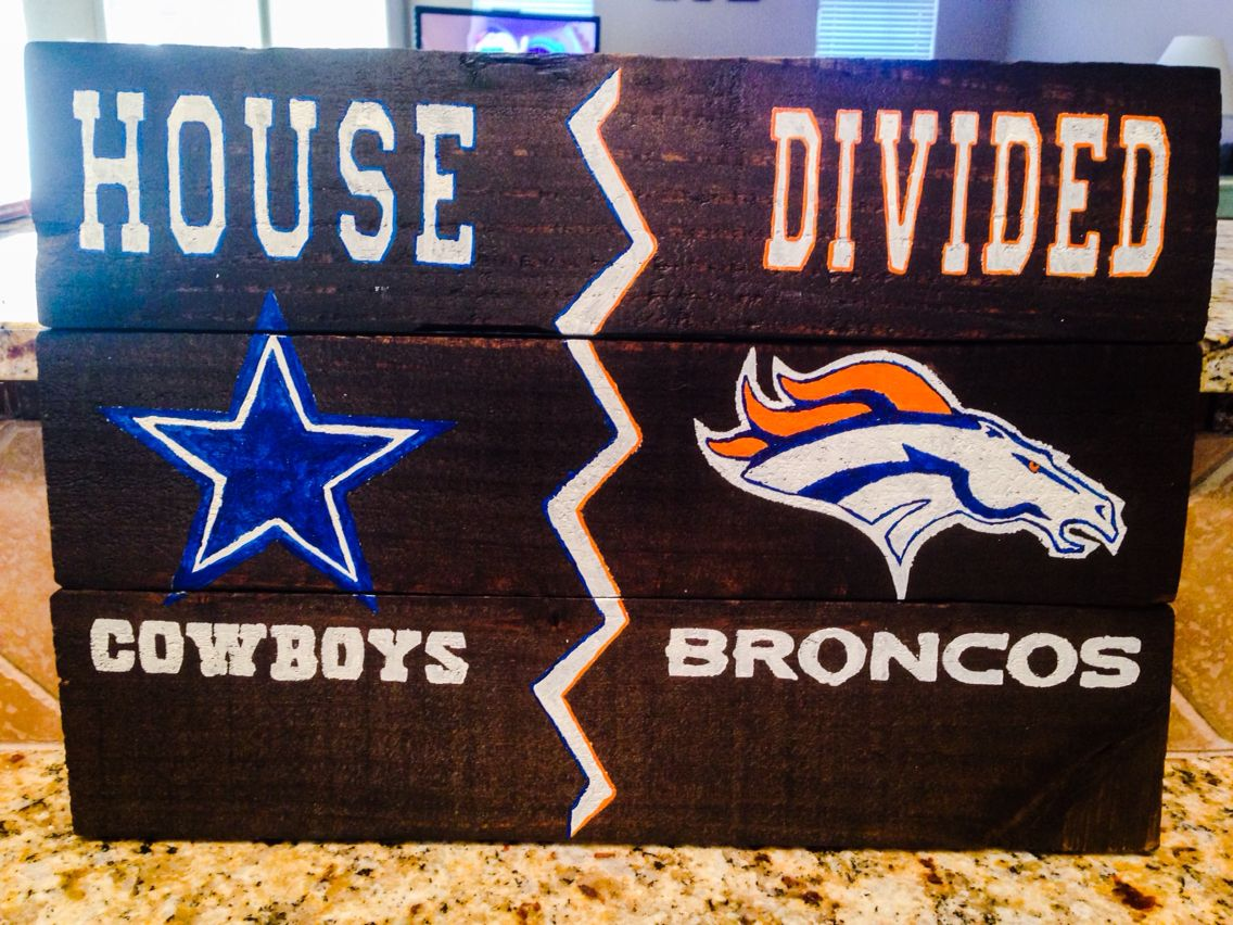 House Divided Sign Hand Painted Pallet Wood Barn Wood