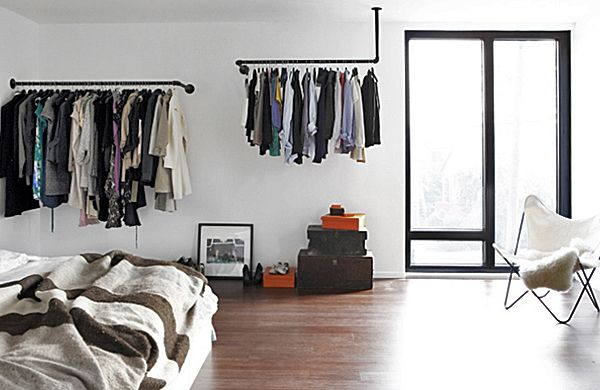 1000 images about No Closet Clothing Solutions on Pinterest. Bedroom Clothes