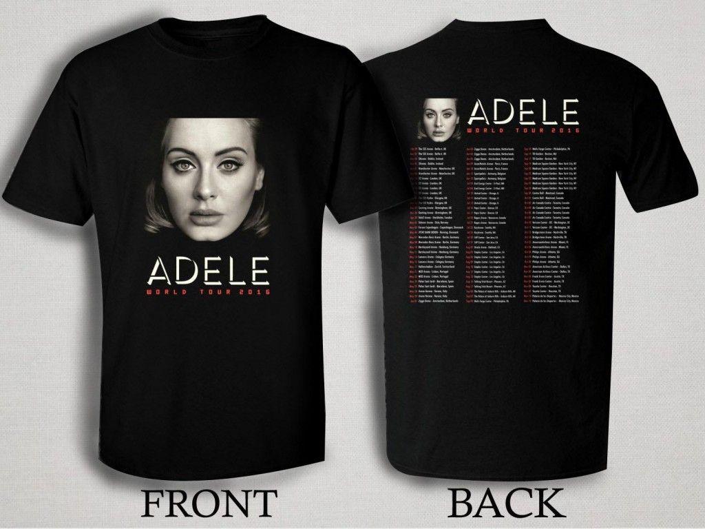 Adele 2016 World Tour T Shirt Size S M L Xl 2xl 3xl