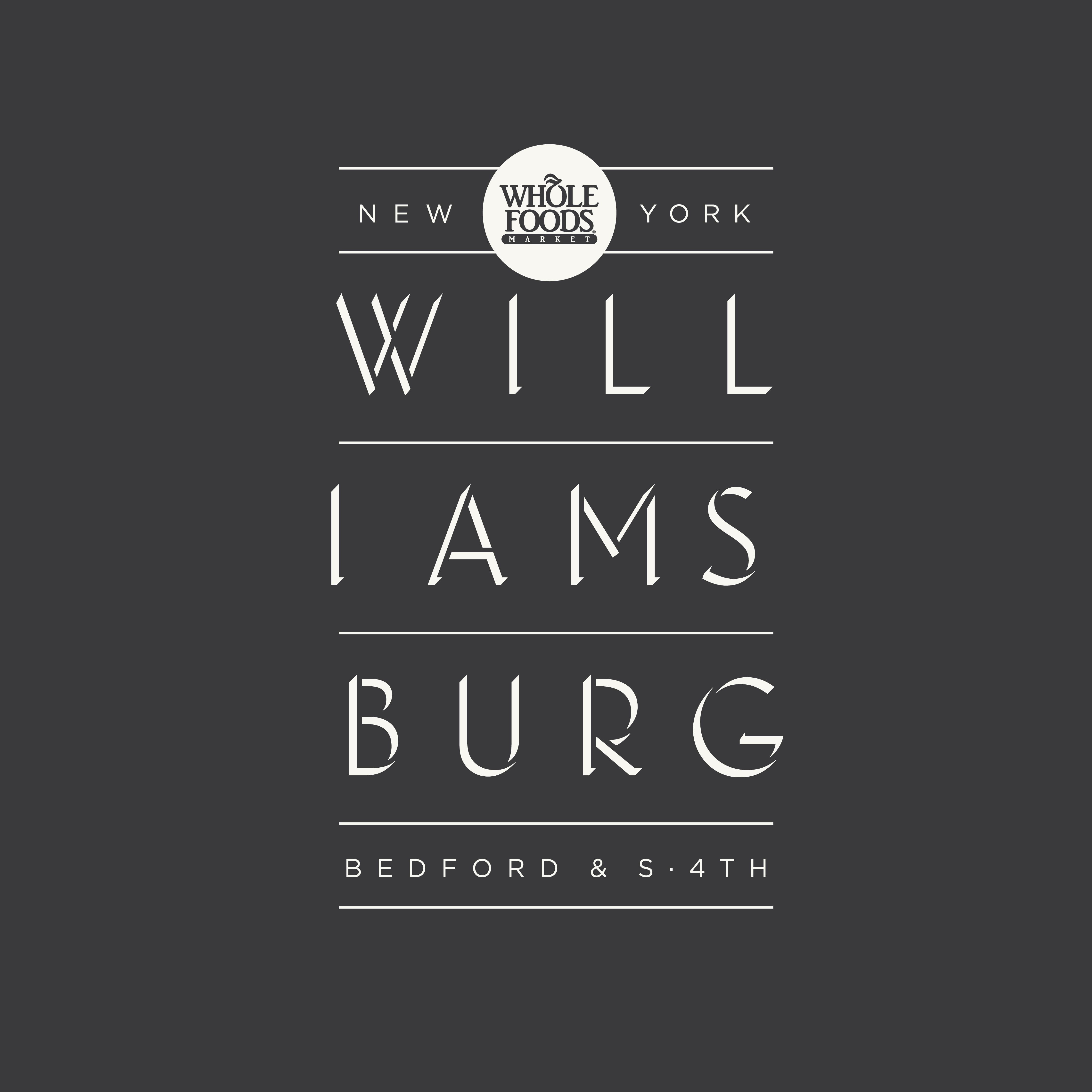 Whole Foods Market Williamsburg Logo Design Graphic Design Projects Graphic Design