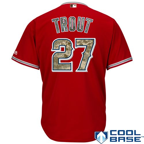 Los Angeles Angels of Anaheim Mike Trout 2015 Memorial Day Cool Base  Alternate Jersey - MLB.com Shop f676aee58