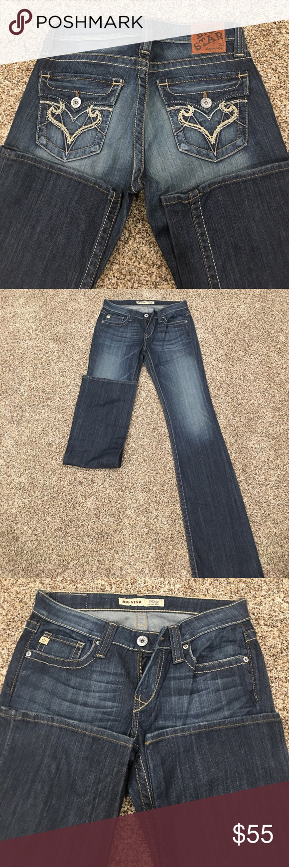 Big Star Jeans Big Star Jeans size 28L like new condition inseam 36 Big Star Jeans Boot Cut