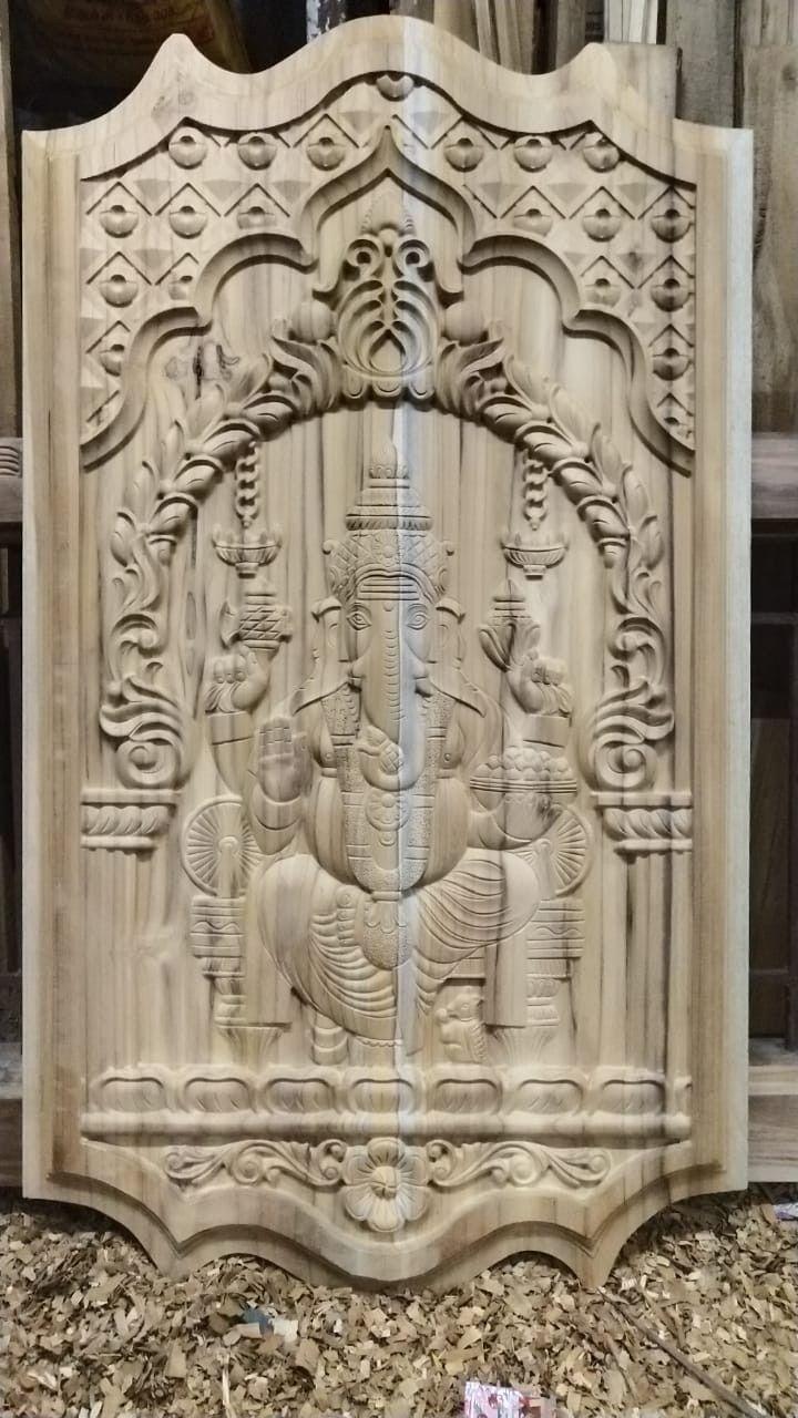 Bavas Wood Works Pooja Room Door Frame And Door Designs: Pin By Vishwakarmaart On Cnc Work In Wood