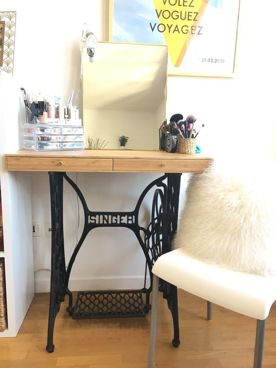 Coiffeuse Vintage Relooking Meubles Pinterest Shelving