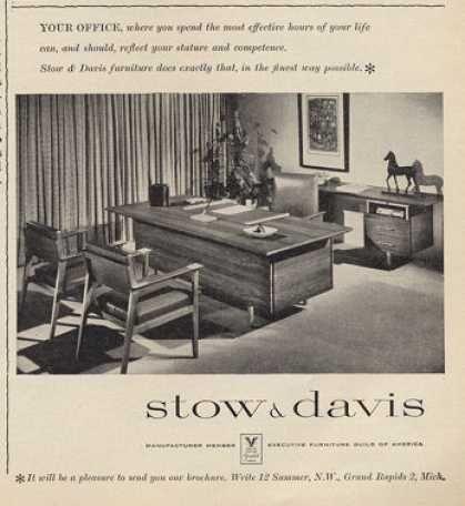 Bon Stow U0026 Davis Designer Furniture Desk Chairs (1960)