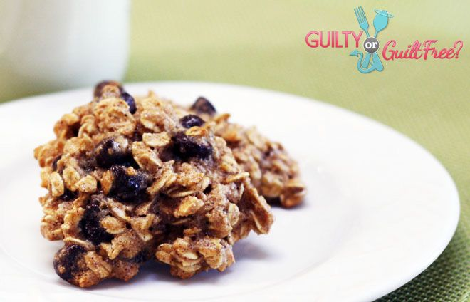 Clean eating oatmeal chocolate chip cookies - these are yummy and easy to make!