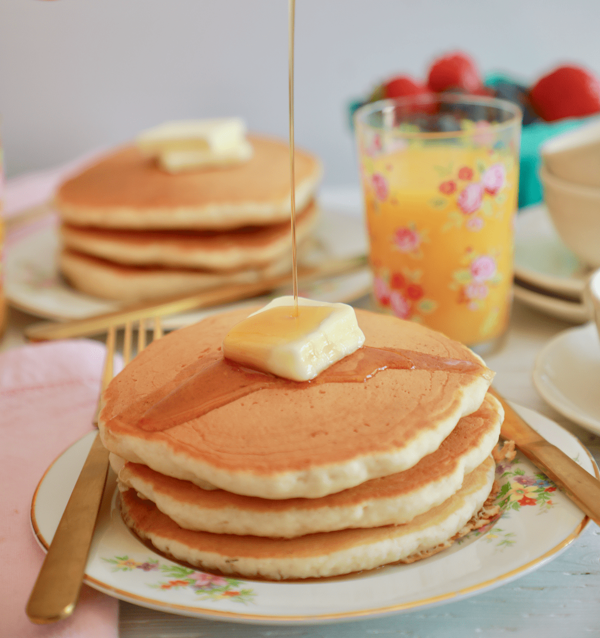 Perfect Buttermilk Pancakes Recipe With Video And Instructions Recipe In 2020 Pancake Recipe Buttermilk How To Cook Pancakes Food