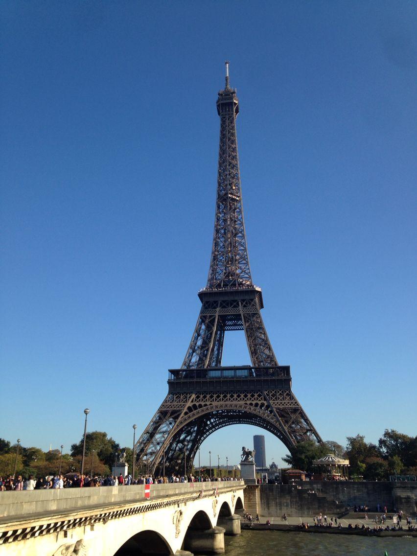 The Eiffel Tower and Montparnasse paris France