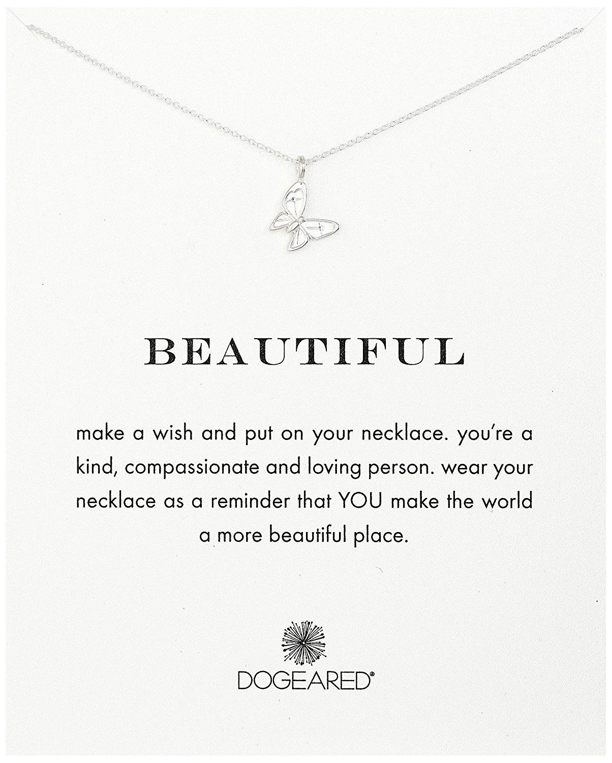 Sterling Silver Dogeared I Am Happy Small Dogtag 18 Necklace