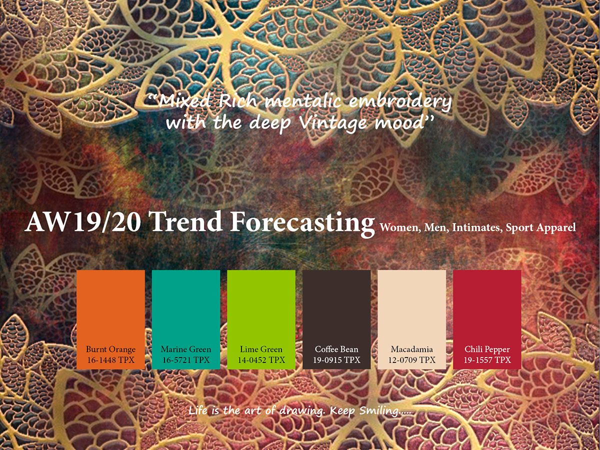 AW2019/2020 Trend forecasting on Pantone Canvas Gallery ...