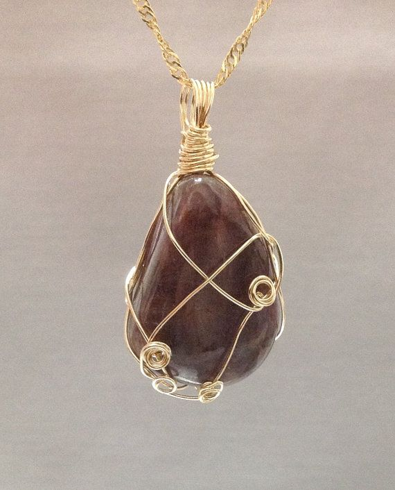 Natural Ruby Pendant made of 14k gold filled by OritWhiteLight