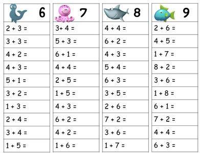 Tables d 39 addition cole math matiques et cp - Addition grande section ...