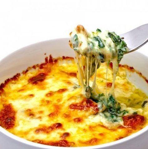 Espinacas Gratinadas con Queso y Bechamel Te enseñamos a cocinar recetas fácil...