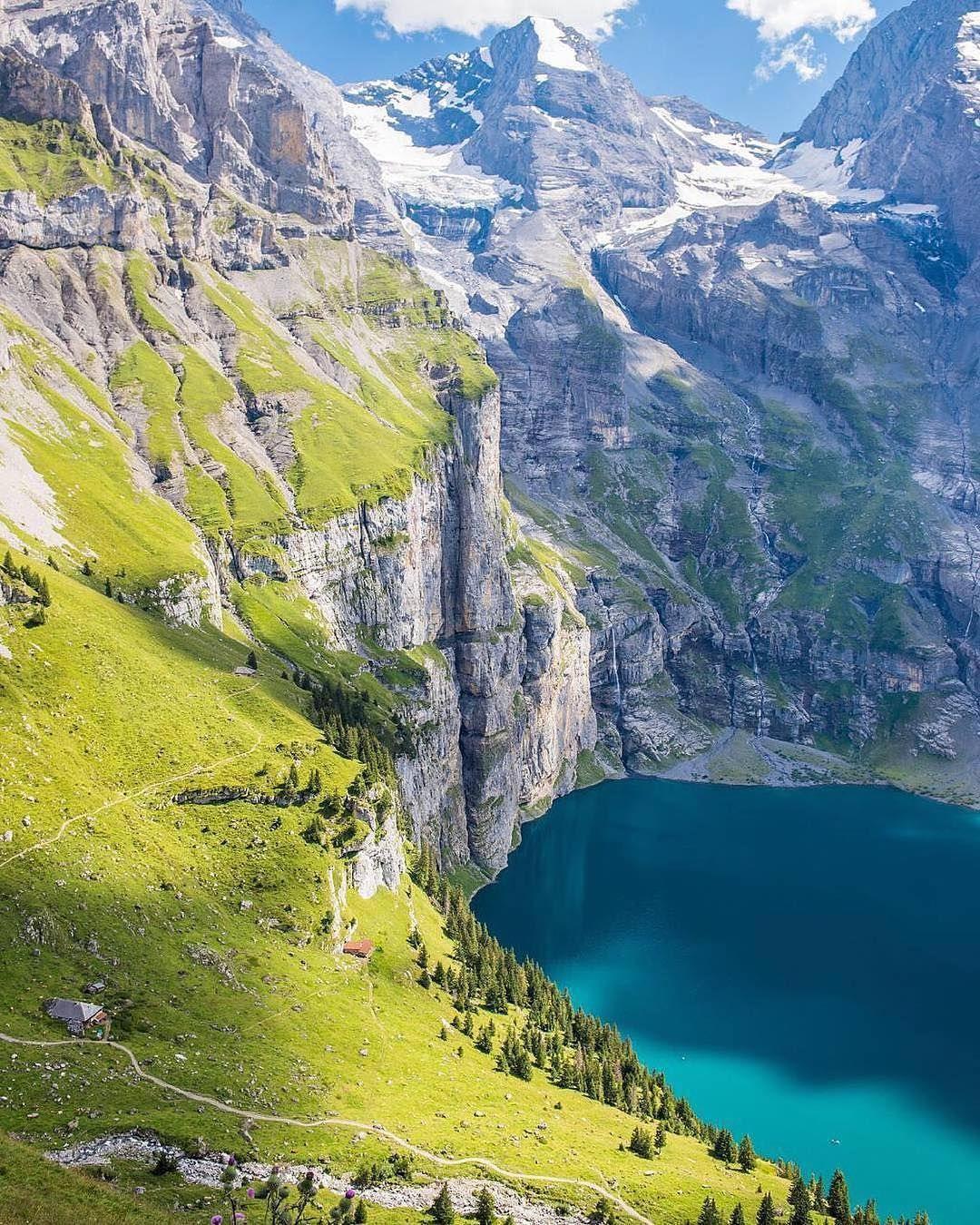 Amazing Places To Stay Switzerland: Oeschinen Lake In #Switzerland. Photo By @iatskiv