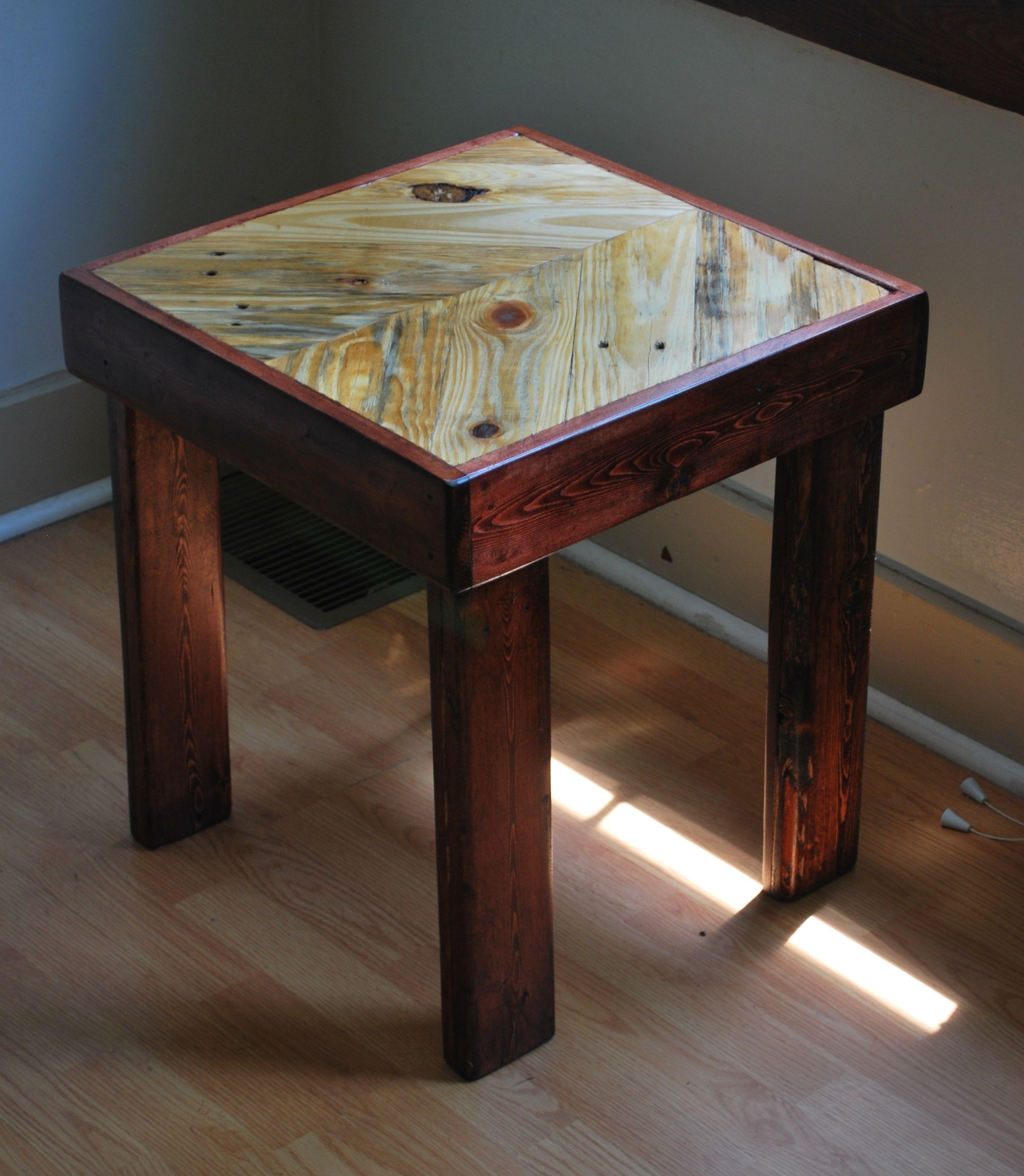Chevron side table