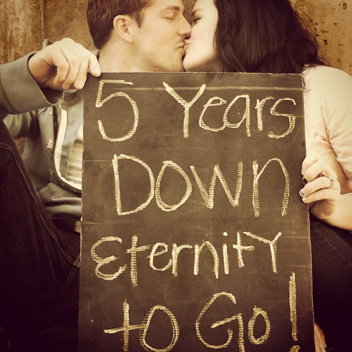 Anniversary picture... cute quote, def gonna use it ...