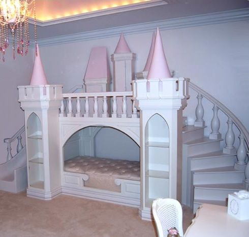 Built In Princess Castle Bed With Stairs And Slide Cool Kids
