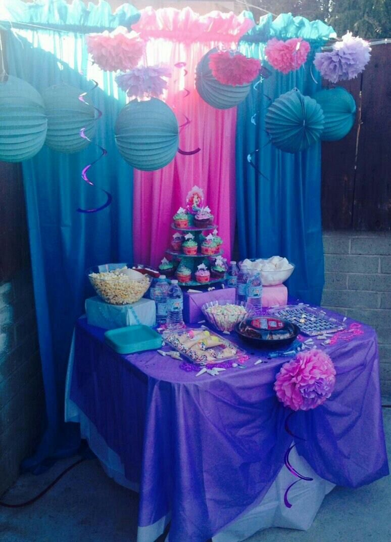 Little Mermaid Candy Buffet My Creations Mermaid Parties Little