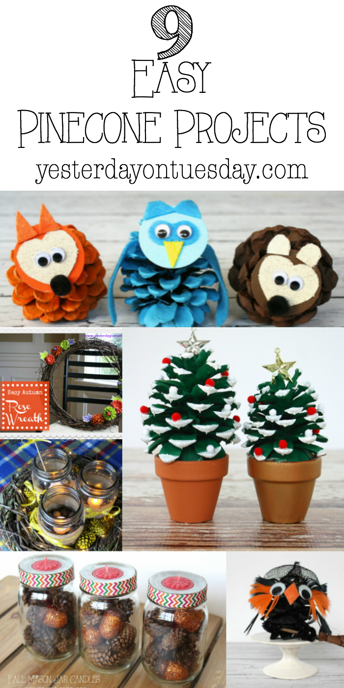 9 Easy Pinecone Projects Pine Cone Crafts Crafts Pine Cones