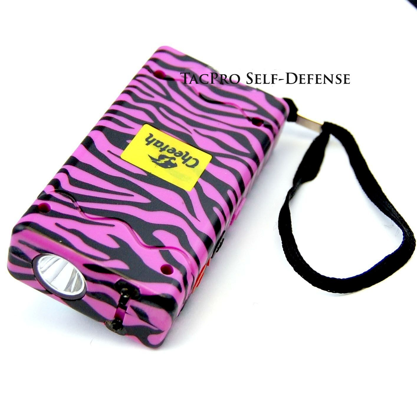10 Million Volt Stun Gun Taser Pink Zebra for Self-Defense