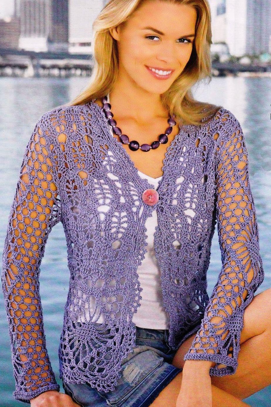 Chaqueta … | Crochet:sacos para dama | Pinterest | Chaquetas, Arco y ...