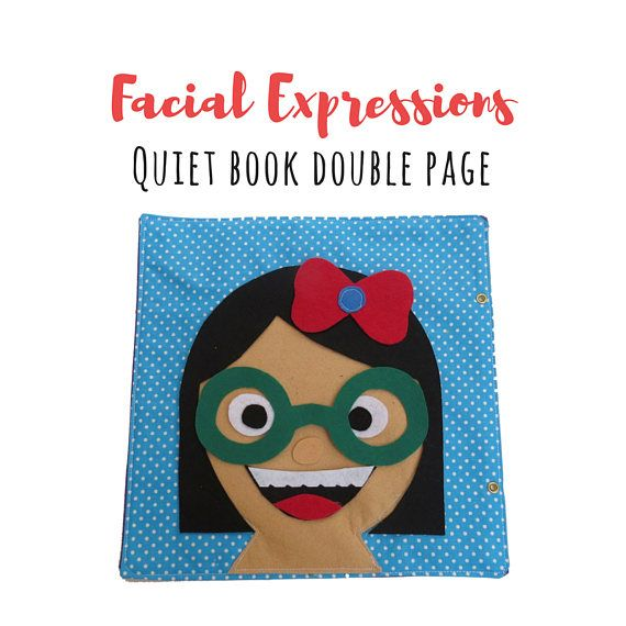 Quiet Book Page PDF Faces| Facial Expressions| Busy Book