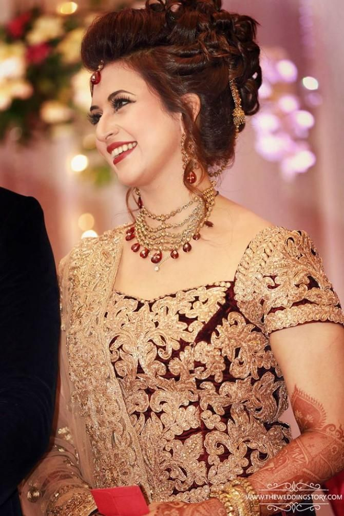 indian wedding hairstyle gallery%0A Here Are Some Beautiful Pictures From Divyanka And Vivek u    s Wedding  Reception In Chandigarh