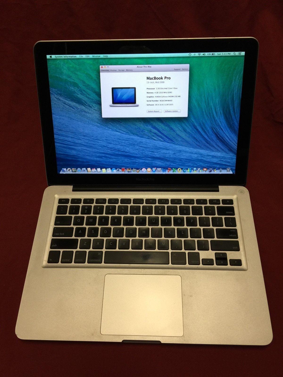 13 Apple Macbook Pro 2009 226ghz 4gb Ram 320gb Hd New Battery Baterai Original A1322 A1278 Inchi