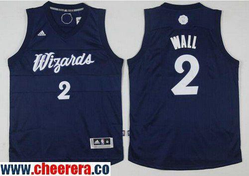 13601c756b0 Men's Washington Wizards #2 John Wall adidas Navy Blue 2016 Christmas Day  Stitched NBA Swingman Jersey