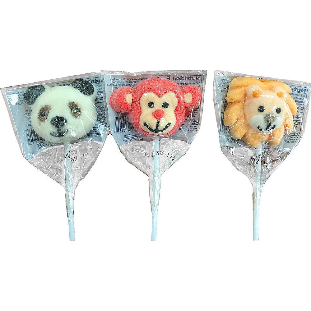 Mini Marshmallow Animal Lollipop 0.38oz Party City