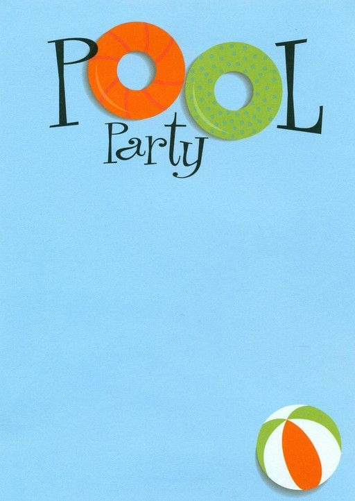 Swimming Pool Party Invitations Kids Pools Pinterest