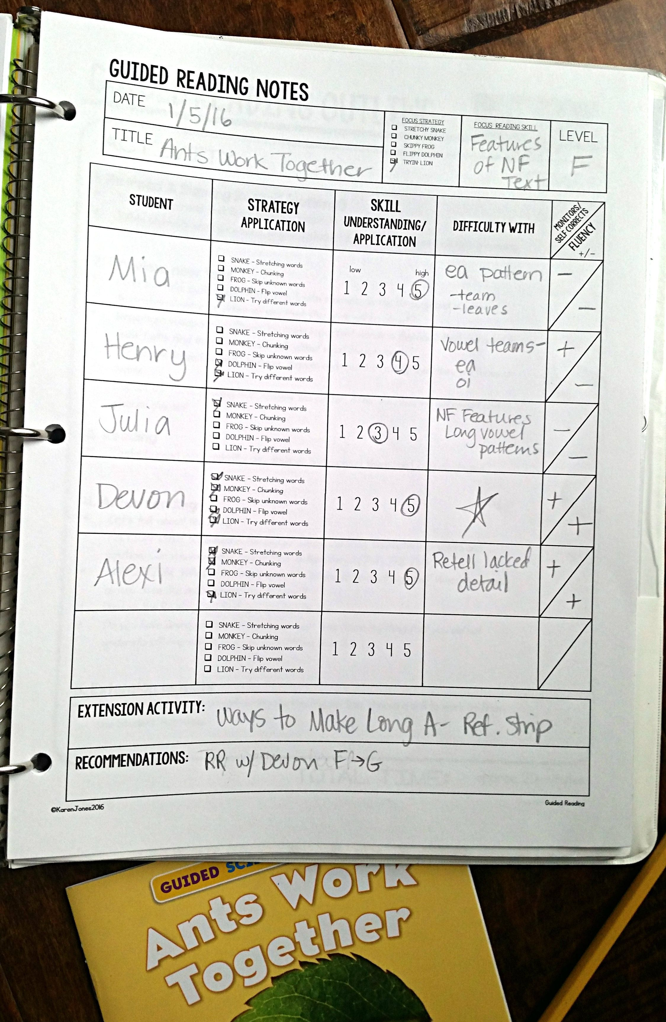 Guided Reading made easy! Leveled Units to make planning and ...