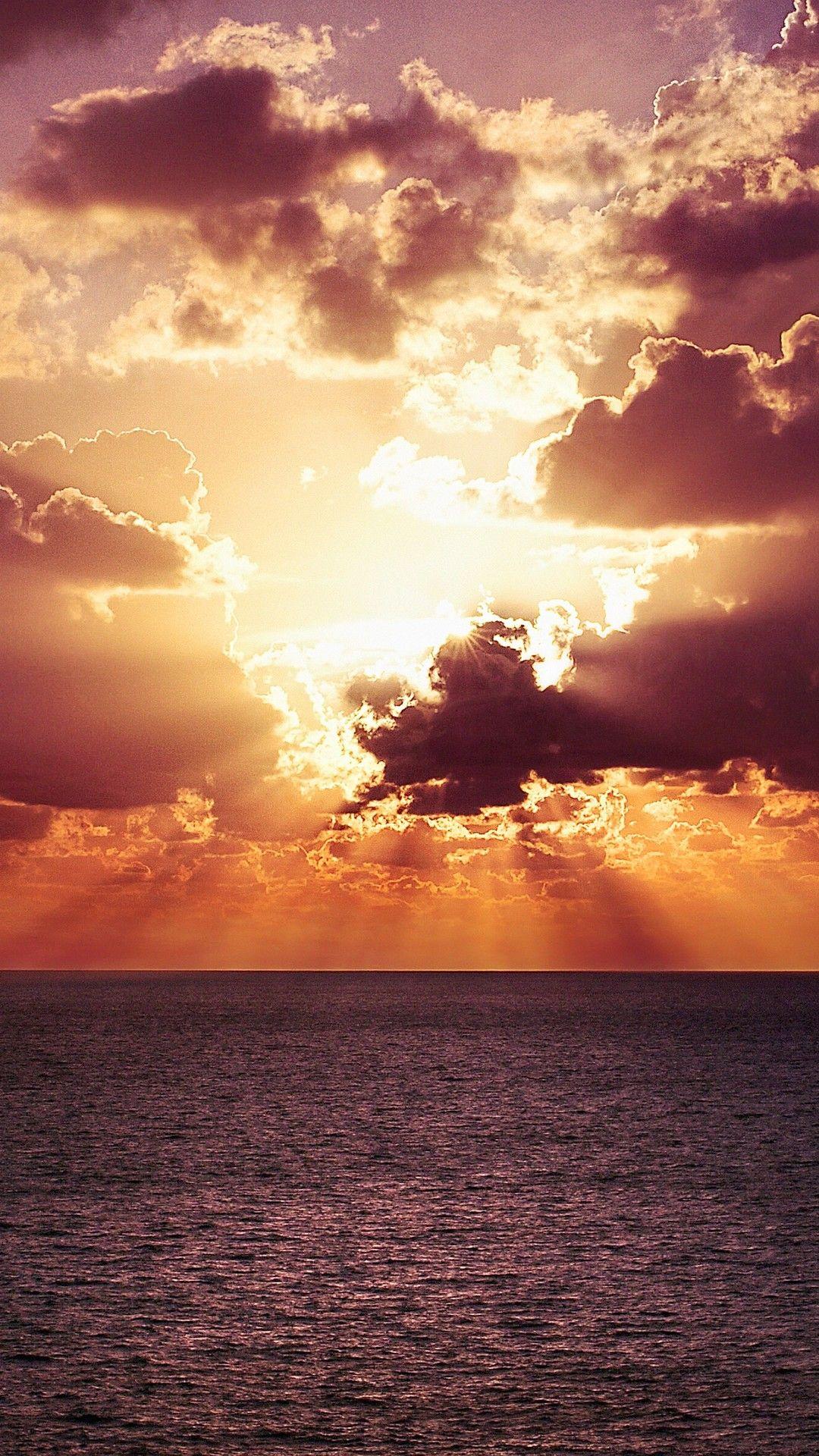 Vibrant Sunset Evening Landscape 4k Mobile Wallpaper
