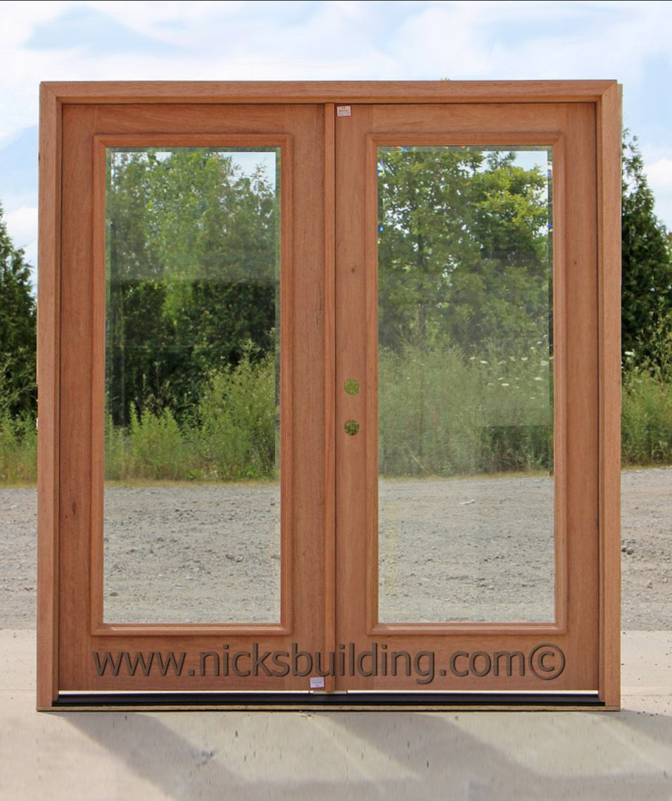 French doors glass doors wood door with glass back for Double wood doors with glass