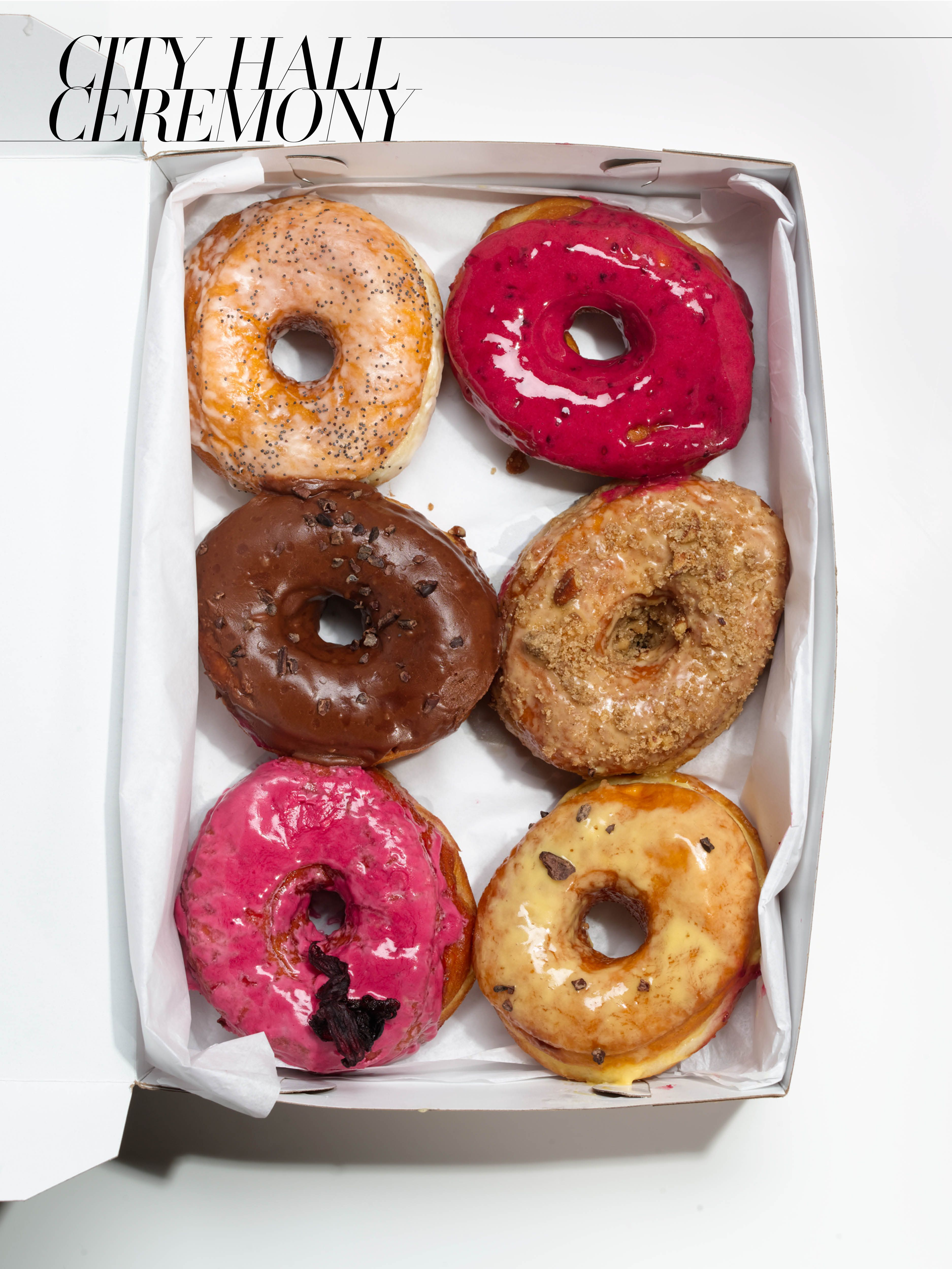 Dough donuts, $14-17 for box of six Dough, Brooklyn, 347.533.7544